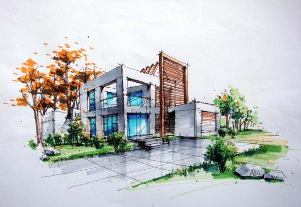 建筑手绘,往往以最直观的色彩向人们展示其艺术性
