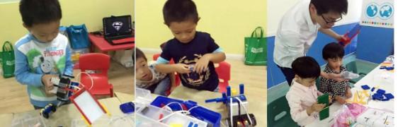 通过机器人的设计,组装和编程等内容来激发孩子对