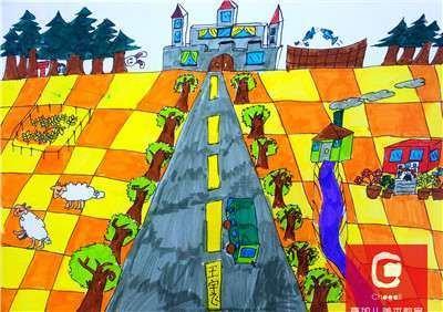 西安夏加儿美术万达百货校区7-8岁大师绘画创作班_样?图片