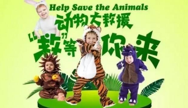 保护熊猫的英语海报