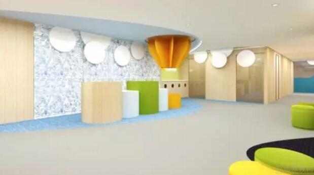 2大 6小共8个教室,还有卫生间,打造九个装饰风格:太空主题教室,小镇