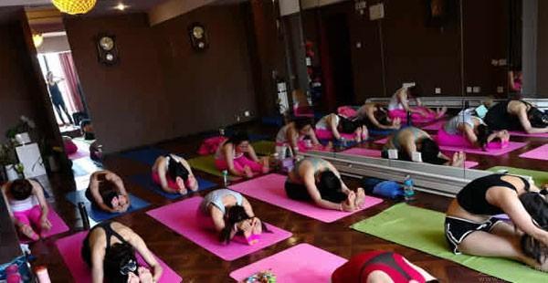 西安雨桐瑜伽上课情况
