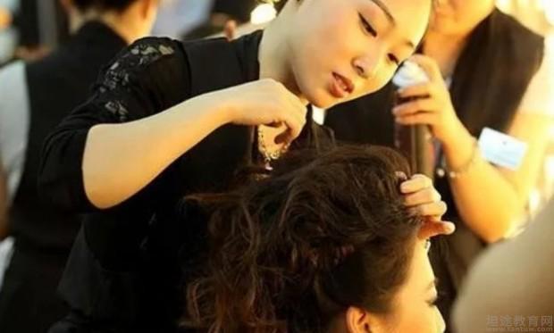 深圳新时代美容美发化妆学校学员实战